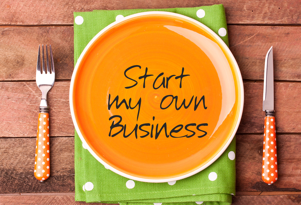 startup business on a plate
